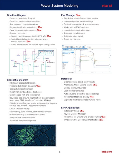 Etap Product Overview Power System Modeling Analysis Operation