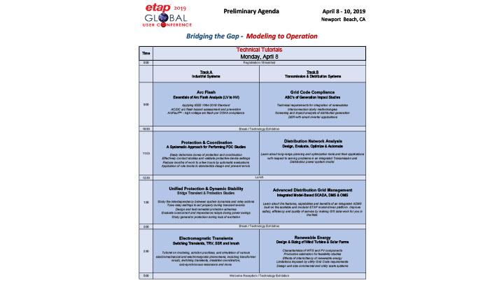 ETAP 2019 Global UC Agenda