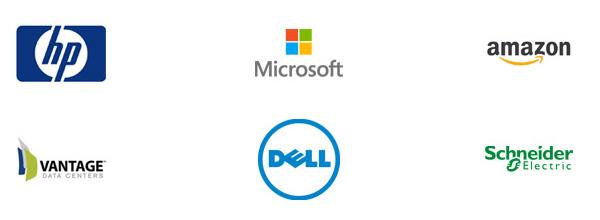Logotipos de usuarios de centros de datos