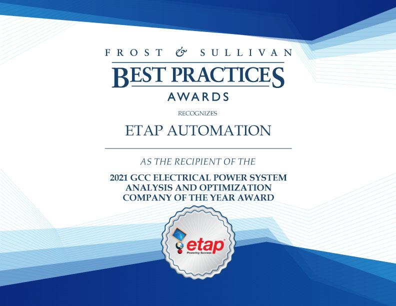 ETAP Automation Company of the Year 2021 Award