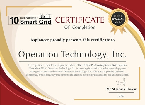 The 10 Best Performing Smart Grid Solution Provider 2019