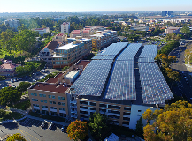 Solar power arrays, UC Irvine microgrid. Photo credit: UC Regents