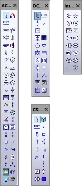 ETAP AC Element Toolbar