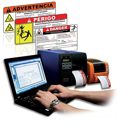 Arc Flash Labels with editable templates that can be printed out