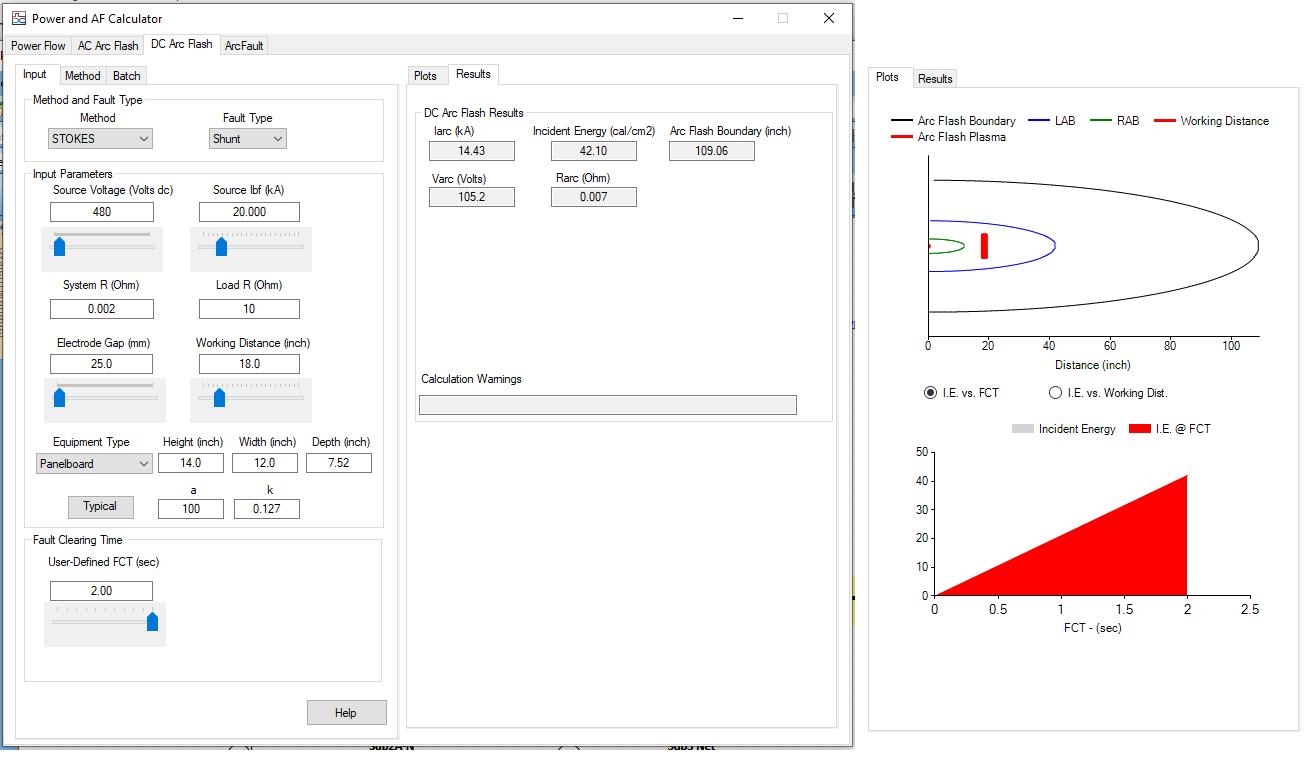 DC Arc Flash Calculation Software