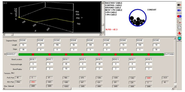Cable Pulling Systems interface