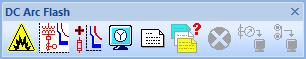 DC Arc Flash Analysis ETAP toolbar