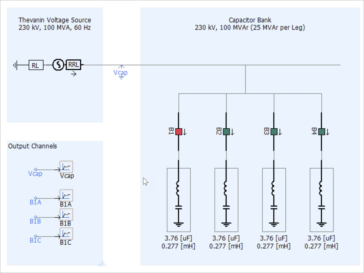 eMT Capacitor Switching