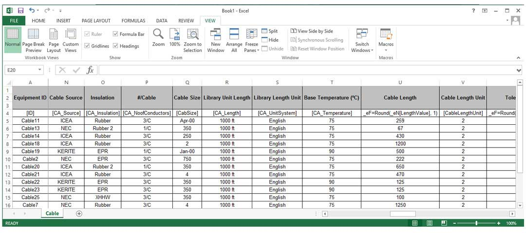 Data Exchange - Microsoft Excel Open Format Excel DataX ETAP