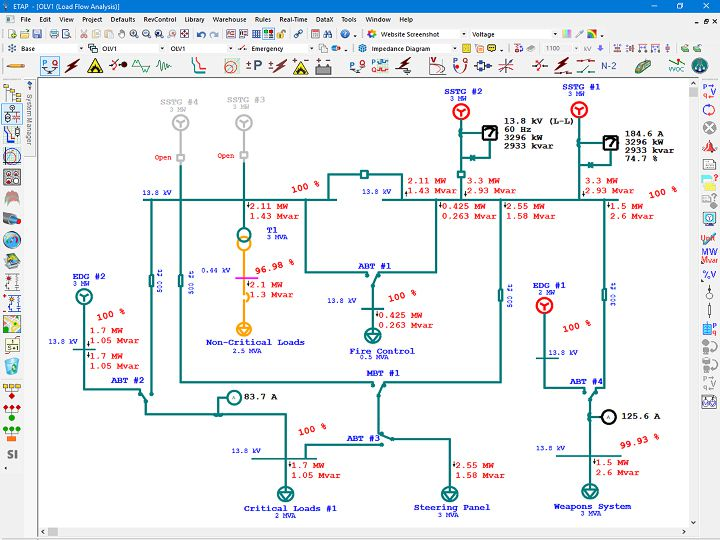 marine electrical diagram electrical single line diagram etap rh etap com marine electrical schematic marine electrical schematic