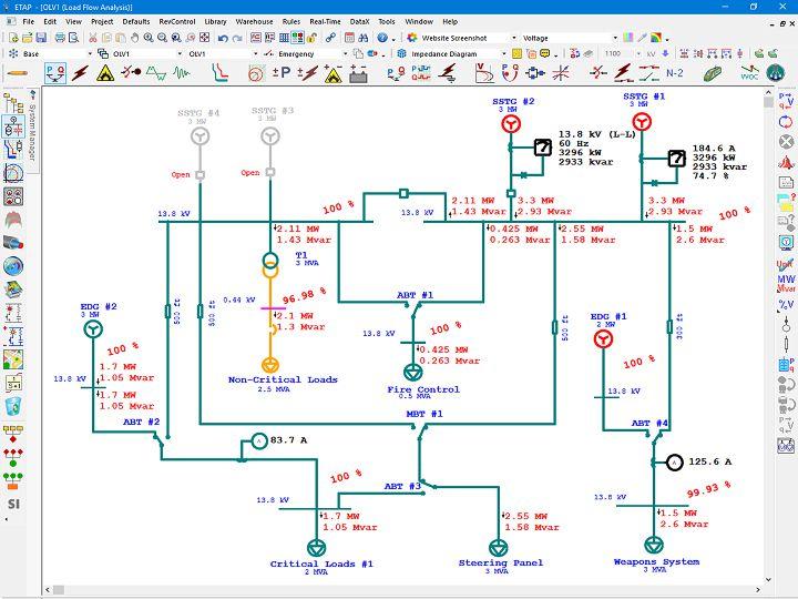 marine electrical diagram electrical single line diagram etap rh etap com Electrical Wiring Diagrams 06 Malibu Boats boat electrical wiring diagrams