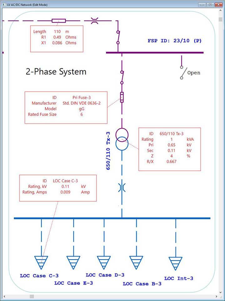 Marine Electrical Diagram Electrical SingleLine Diagram ETAP