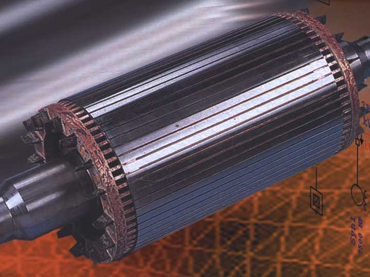 An AC motor to represent motor acceleration