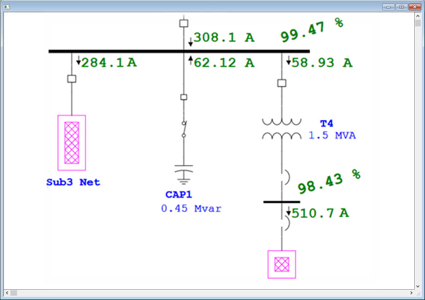 One Line Diagram Software - Data Library •
