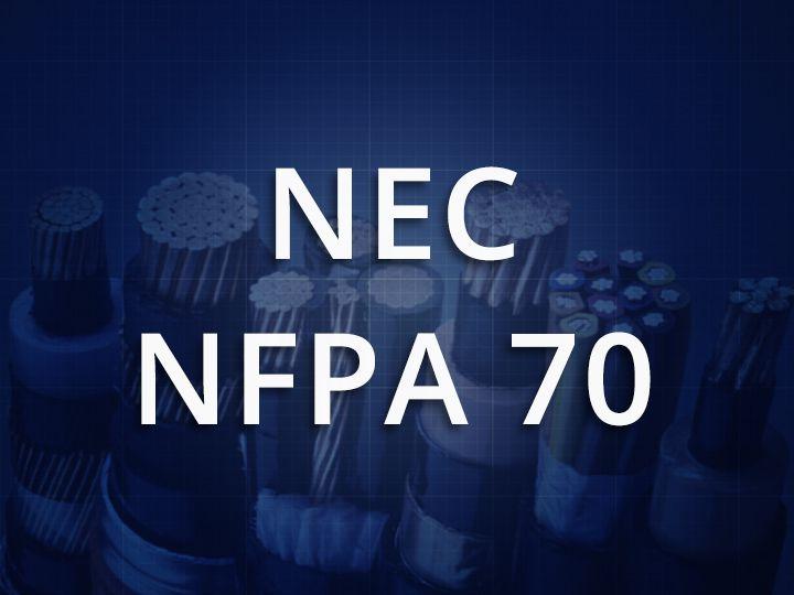 NEC: NFPA 70 standards