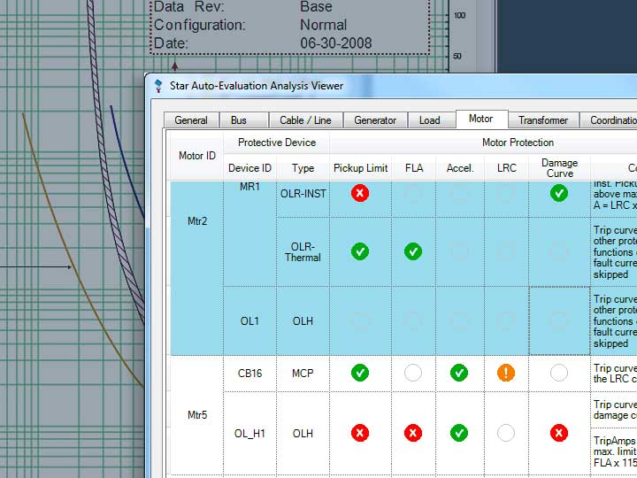Star Auto-Evaluation Analysis Viewer and TCC curves