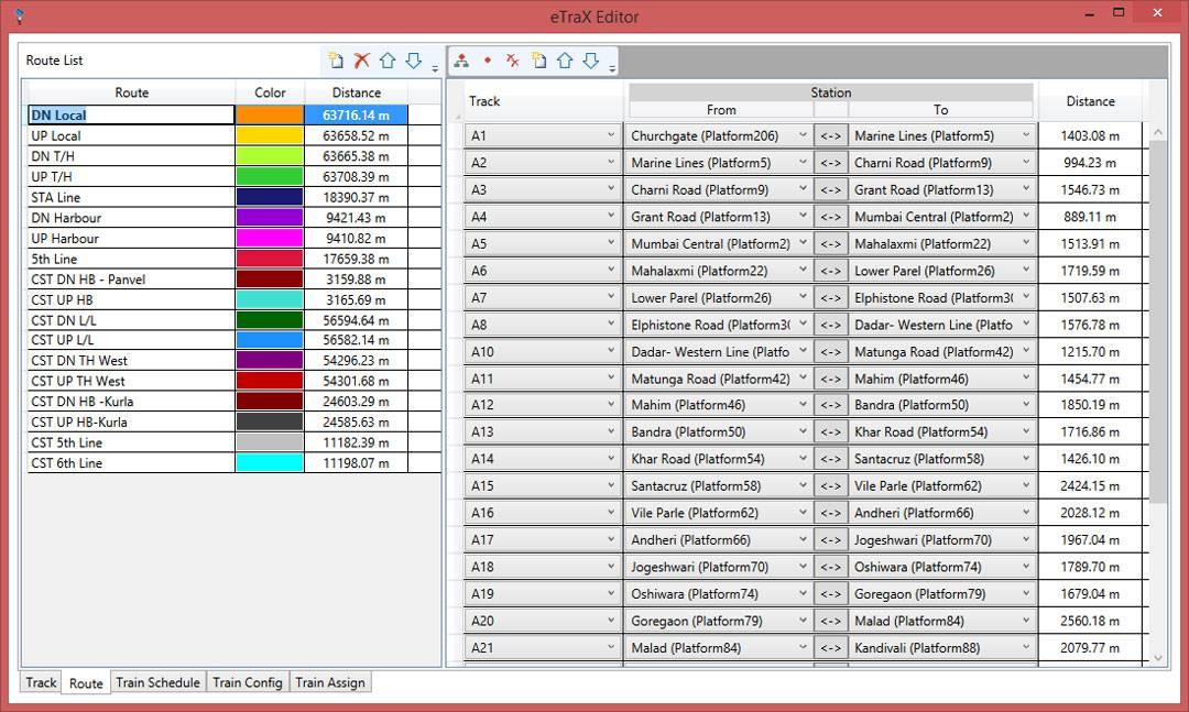 Track & Route Editor