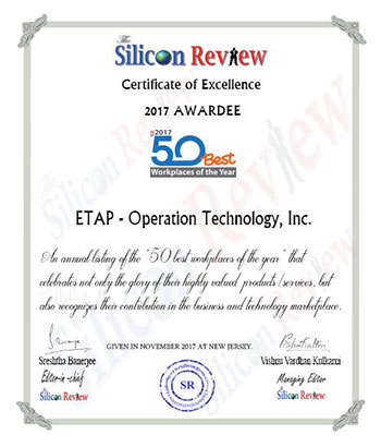 Silicon Review certificate