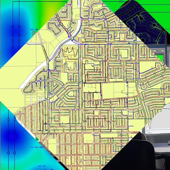 Electrical Geospatial Diagram