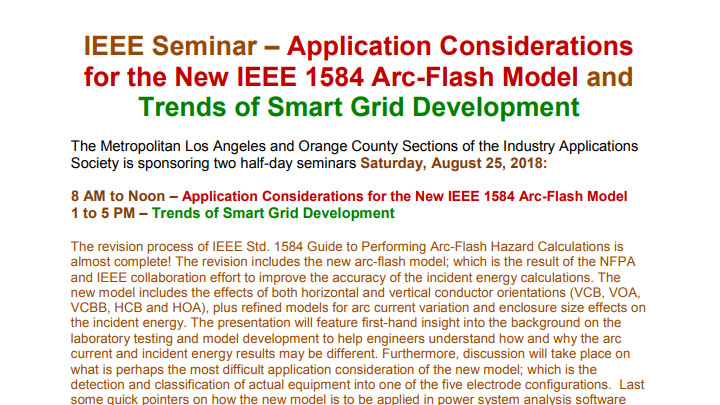 IEEE_Arc-Flash_Smart Grid Seminar_Aug25_2018