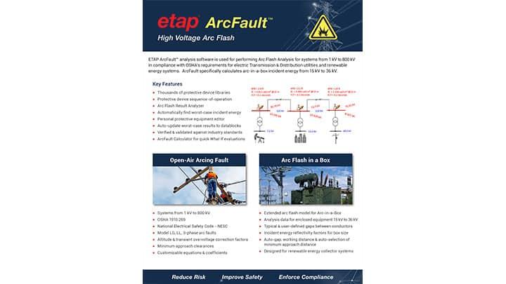 ETAP ArcFault™ - High Voltage Arc Flash Analysis