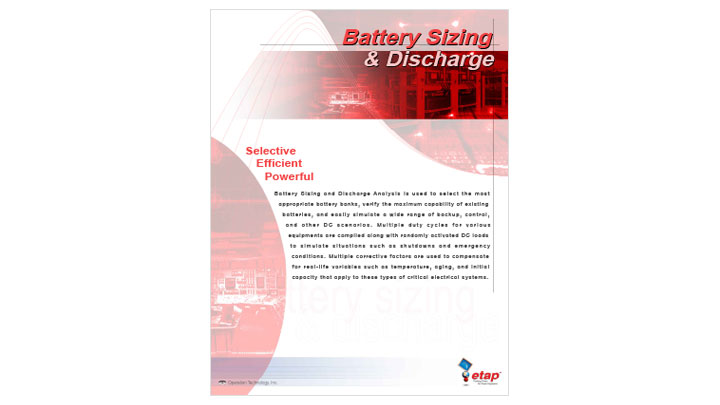 Battery Sizing and Discharge