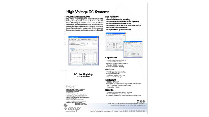 High Voltage DC Systems