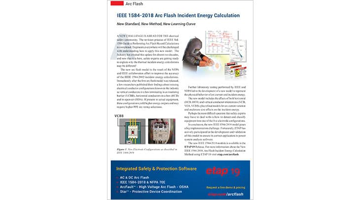 IEEE 1584-2018 Arc Flash Incident Energy Calculation
