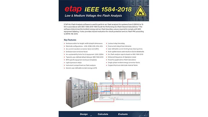ETAP Arc Flash IEEE 1584-2018