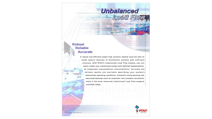 Unbalanced Load Flow