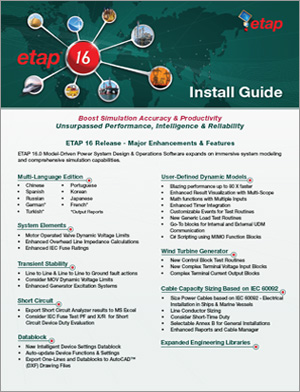 ETAP 16 Demo Installation Guide