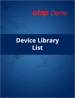 ETAP Demo Device Library List