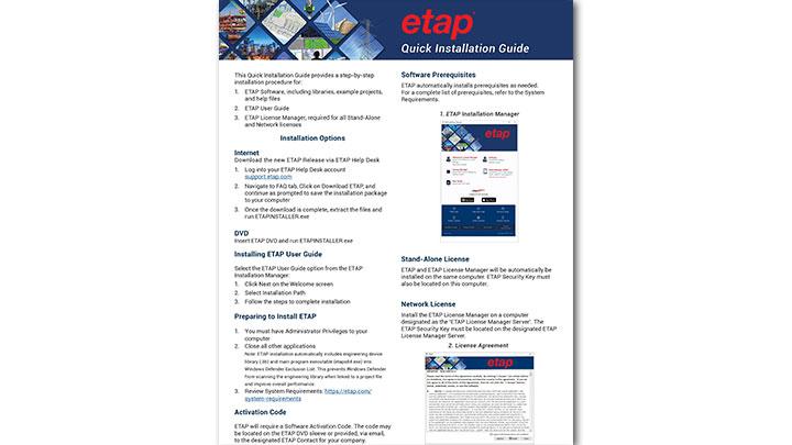 ETAP 20 Installation Guide