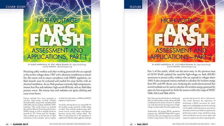 High Voltage Arc Flash Assessment and Applications