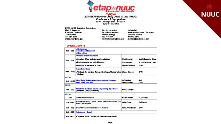 ETAP NUUC 2018 Agenda