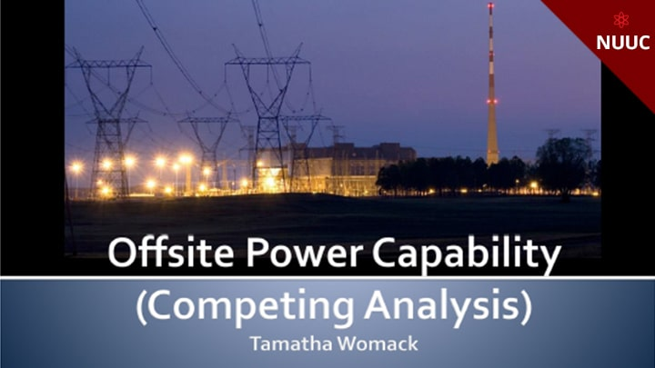 Offsite Power Capability (Competing Analysis) Rev 1