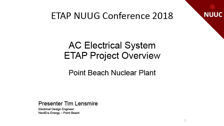 PBNP ETAP Project Overview - AC Electrical System