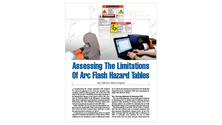 Limitations of Arc Flash Hazard Tables