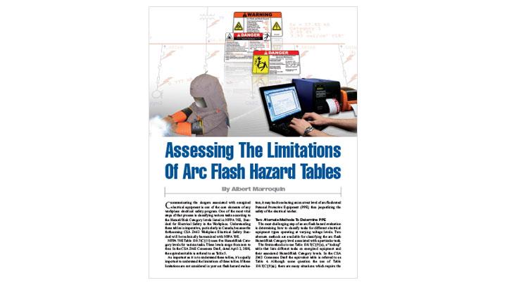 Limitations of Arc Flash Hazard Tables