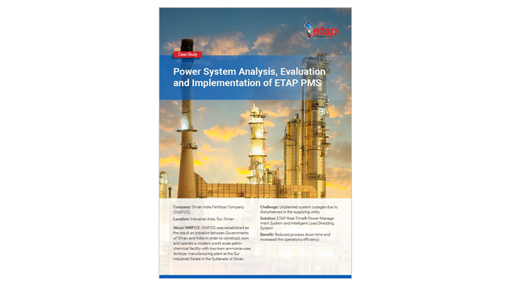 Power System Analysis, Evaluation and Implementation of ETAP PMS