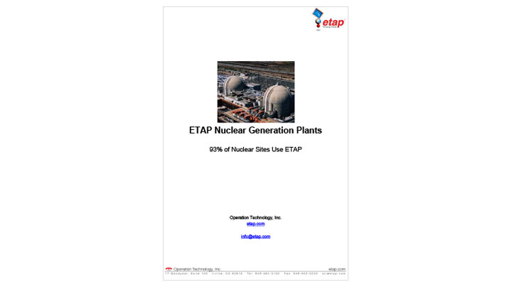 ETAP Nuclear Generation Plants