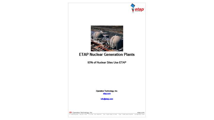 ETAP Nuclear Generation Plants