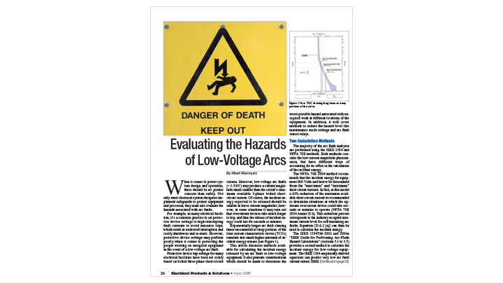 Evaluating the Hazards of Low-Voltage Arcs