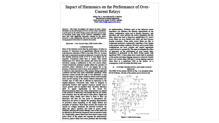 Impact of Harmonics on Performance of Over-Current Relays