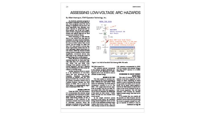 Assessing Low-Voltage Arc Hazards