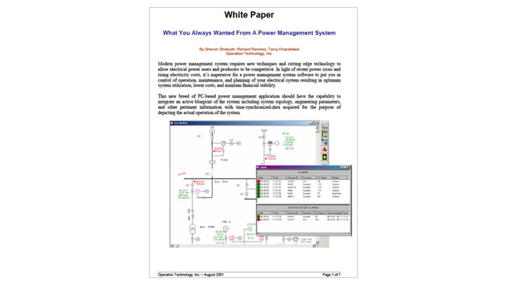 What You Always Wanted From A Power Management System