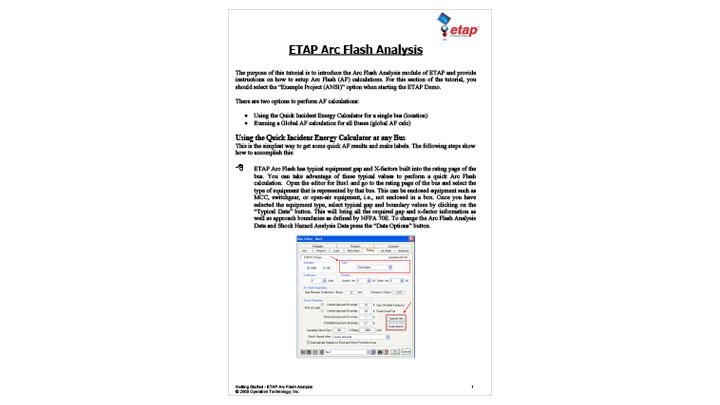 ETAP Arc Flash Analysis