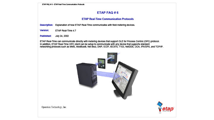 ETAP Real-Time and field metering device communication