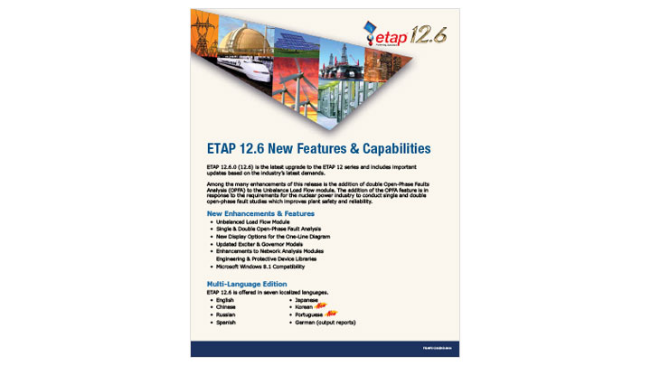 ETAP 12.6 New Features