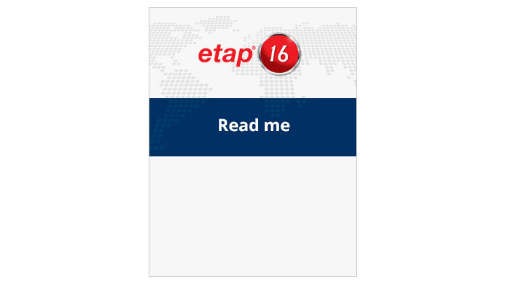 ETAP 16 Readme